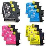 3x Huismerk compatibel met brother LC-980 / LC-1100  - BK/C/M/Y 3 setjes