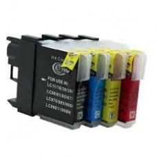 Brother LC-980 / LC-1100  - BK/C/M/Y Huismerk cartridge