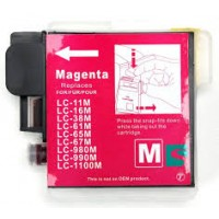 Brother LC-980M / LC-1100M MAGENTA 19ML Huismerk cartridge