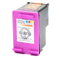 HP 302XL - Kleur 18ML HP F6U65AE Huismerk cartridge