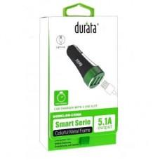 Durata Auto Charger 2/1 3 USB-Slot Micro USB 5.1A  (DR-C508C)